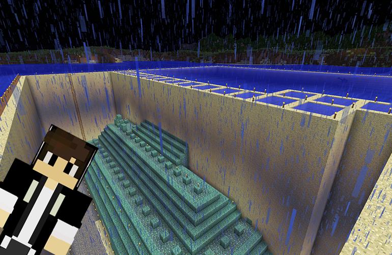 海底神殿の水抜き2日目終了