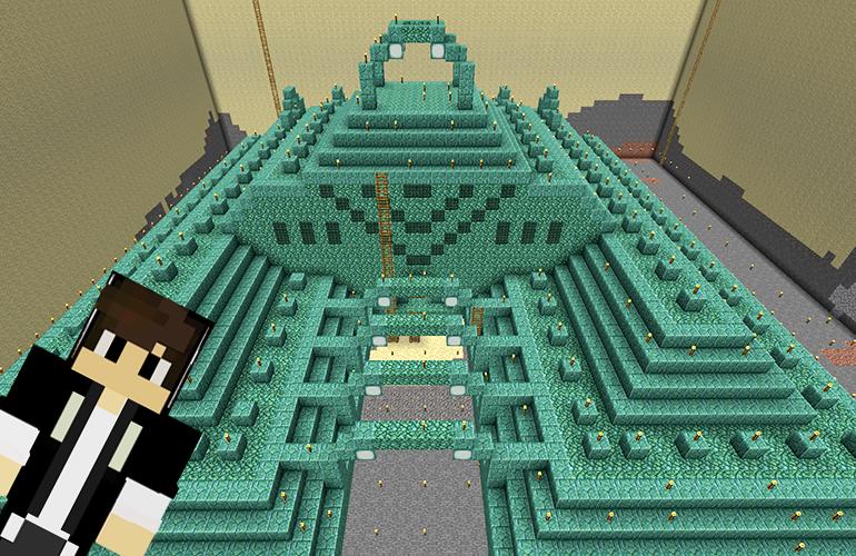 海底神殿の水抜き6日目 完成