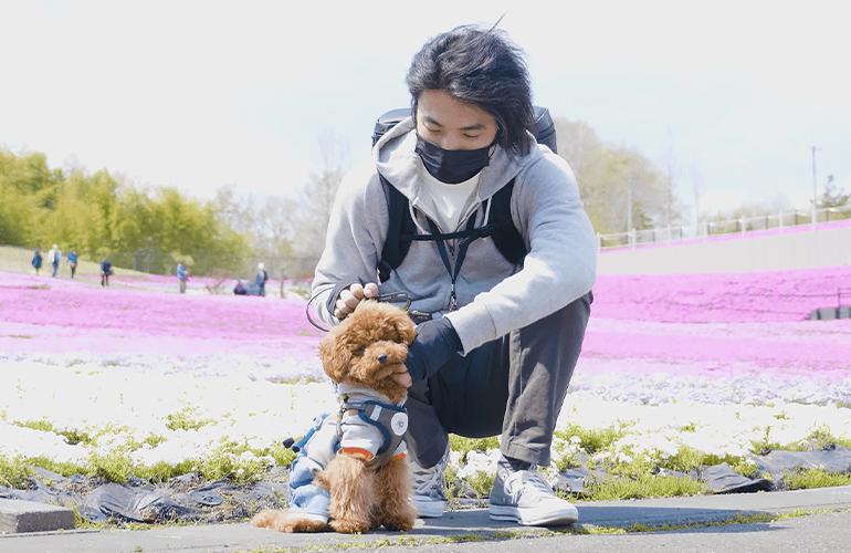 【Vlog】愛犬と一緒にはじめての芝桜【市貝町芝ざくら公園】