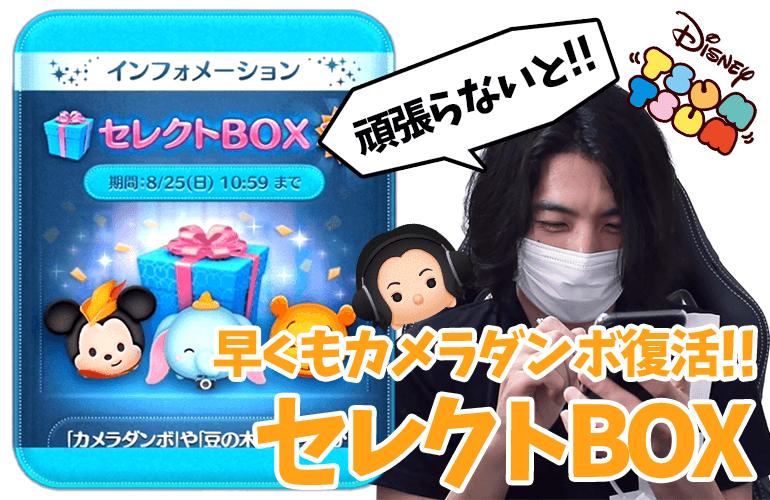 【ツムツム】「カメラダンボ」「豆の木ミッキー」復活!!8月のセレクトBOX第2弾に挑戦!